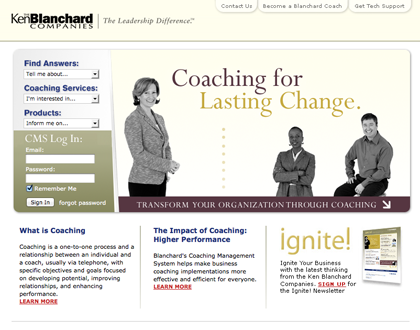 Ken Blanchard Coaching.com Website